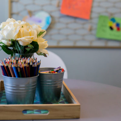 A DIY Artwork Display for Kids: Creating Something New from Something Old