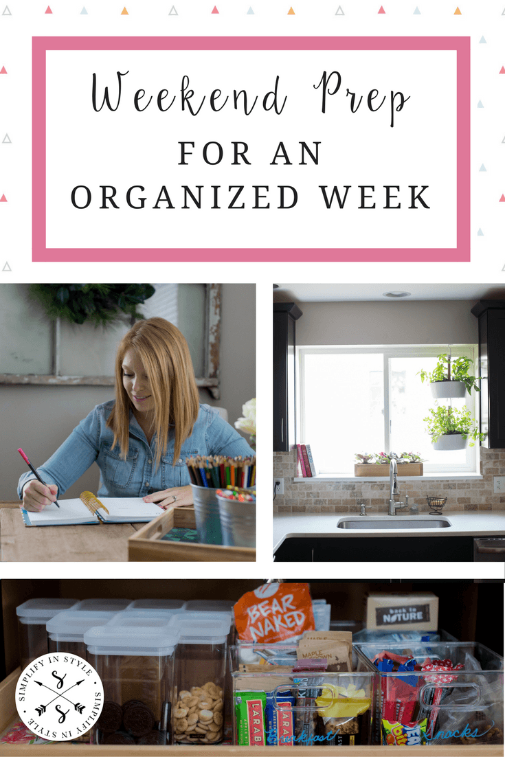 Spend some time on the Sunday prepping for the week ahead to stay organized and productive check out these tips for staying organized each week.