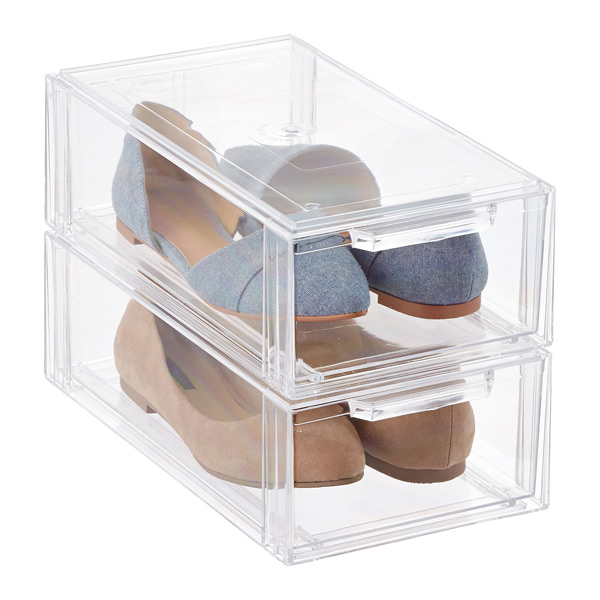 Clear Stackable Small Shoe Drawer Simplify In Style